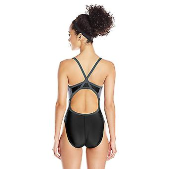Speedo Relaunch Flyback Onepiece Swimsuit, Black, 24, Black, Size 24