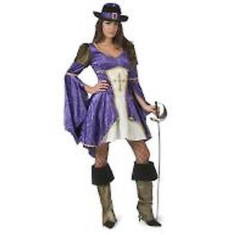 Musketör kvinnors kostym spool Carnival Carnival motto Party Knight kostym damer