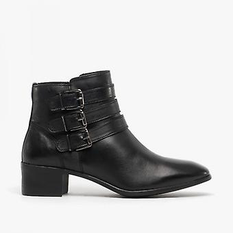 Lotus Mathilda Ladies Leather Ankle Boots Black