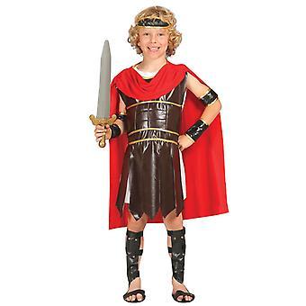 Boys Roman Gladiator Fancy Dress Costume