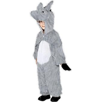 Kids Ages 4 - 9 Years Grey Donkey Animal Fancy Dress Costume