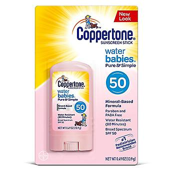 Coppertone waterbabies sunscreen pure & simple stick, spf 50, 0.5 oz