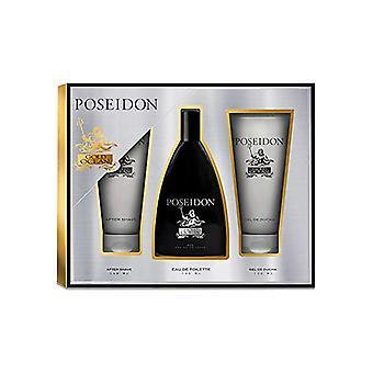 Men's Perfume Set Gold Ocean Poseidon EDT (3 pcs) (3 pcs)