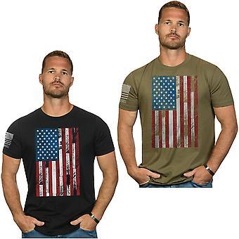 Nine Line Apparel Ryan Weaver Wood Etched Flag T-Shirt