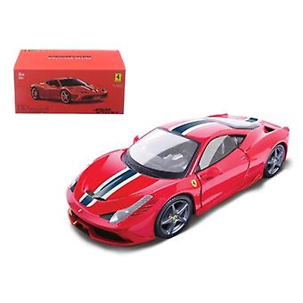 Ferrari 458 Speciale Red Signature Series 1/43 Diecast Model Car De Bburago