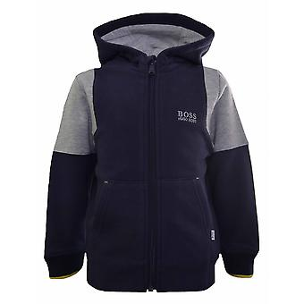 Hugo Boss Boys Hugo Boss Kids Grey Hooded Sweatshirt