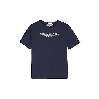 Tommy Hilfiger Девушки ВОЕННО-морского флота Нью-йорк Логотип футболка