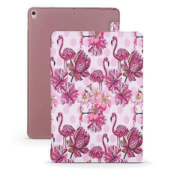 Voor iPad Air 3 (2019) Case, Folio PU Leder + TPU 3-voudighouderdeksel, Flamingo