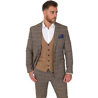 Marc Darcy Ted Tan Check Tweed Jas