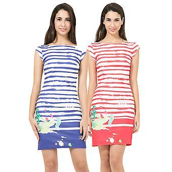 Desigual Women's Striped Rayas Paint Dress
