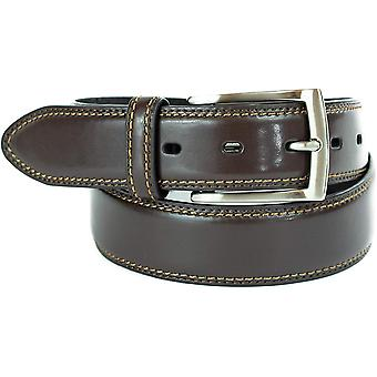 Dockers Men's 1 3/8 in. Feather-Edge Belt ,Brown,34, Brown, Size 34
