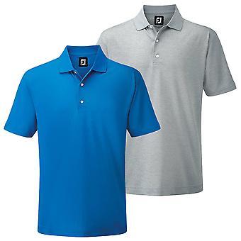 Footjoy Mens Stretch Pique Solid Knit Collar Golf Polo Shirt
