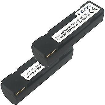 2 x batteria di ricambio NP-100 di Dot.Foto Toshiba - 3.7 v / 2000mAh