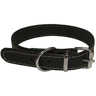 Num'axes Black Leather Eco Collar Coneck'T