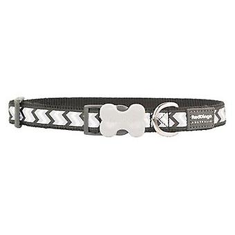 Red Dingo Collar Reflectante Ziggy Negro M