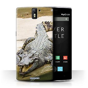 STUFF4 Case/Cover for OnePlus One/Crocodile/Wildlife Animals