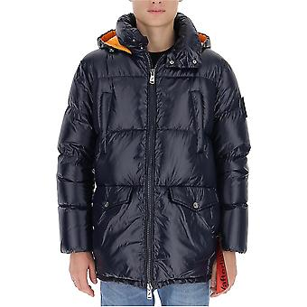 After Label Al019790 Men's Blue Polyester Down Jacket