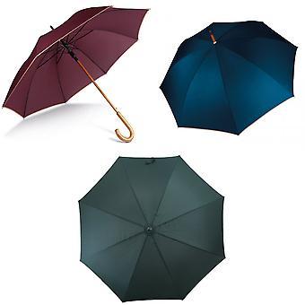 Kimood Unisex Automatic Open Wooden Handle Walking Umbrella (Pack of 2)