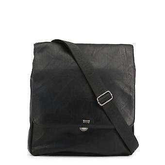 Carrera Jeans Original Men Fall/Winter Crossbody Bag - Black Color 36201