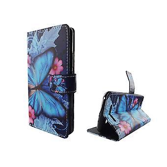 Funda teléfono móvil móvil WIKO Lenny 3 azul mariposa
