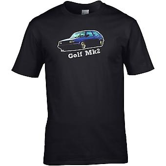 VW Golf Mk2 Classic - Bilmotor - DTG trykt T-skjorte