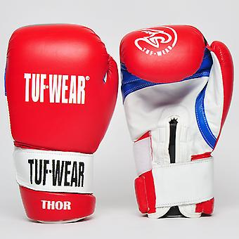 Tuf Wear Thor Safety Spar Leather with Recessed Strap Red / White / Blue