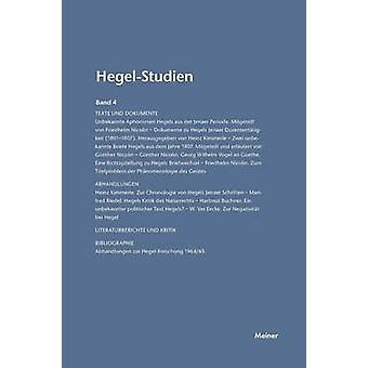 HegelStudien  HegelStudien Band 4 1967 by Pggeler & Otto