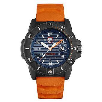 Luminox Navy SEAL Quartz Blue Dial Orange Strap Men's Watch XS.3603