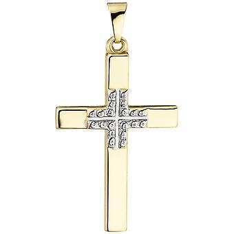 Naisten riipusristi 375 kulta keltainen kultaristi riipus kultaristi