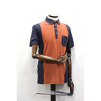 Degrees Navy With Orange Panel Polo Shirt
