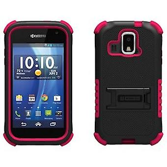 KYOCERA HYDRO XTRM TRISHIELD CASE - BLACK/HOT PINK