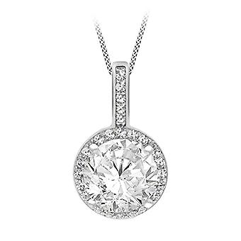Tuscany Silver Necklace with Silver Silver Silver Silver Sterling pendant 925 zirconia_cubic round - 8.46.2354