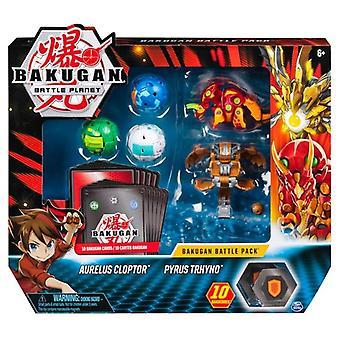 Bakugan Battle Pack 5-Pack Aurelus Cloptor & Pyrus Trhyno