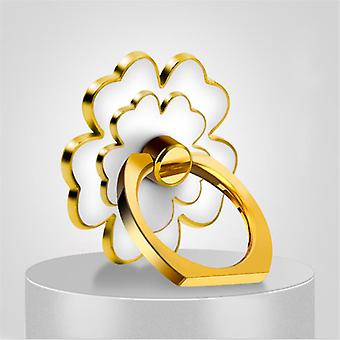 Flower form 360 graders rotation finger ring stå desktop telefon holder til Samsung xiaomi iPhone