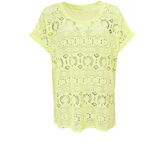 A Postcard from Brighton Lemonade Lace Top