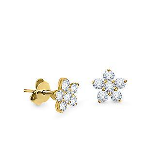 Korvakorut Keiju kukka, 18K kultaa ja timantteja