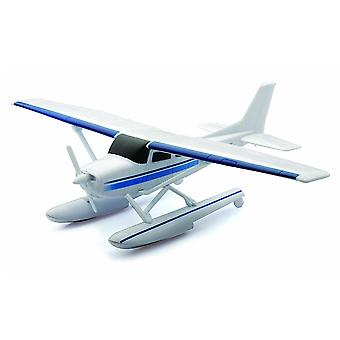 Cessna 172 Skyhawk with Floats Plastic Model Airplane