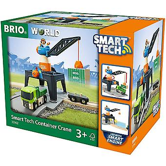 Brio BRIO 33962 World-Smart Tech-Container Crane. Wooden Railway
