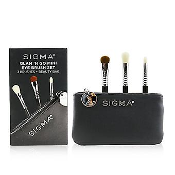 Sigma Beauty Glam 'n Go Mini Eye Brush Set (3x Brushes + 1x Bag) - 3pcs+1bag