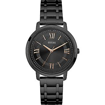 Guess W0933L4 Montauk Black Dial Stainless Steel Ladies Watch