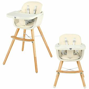 3 In1 Baby High Chair Infant Child Feeding Seat Highchair Food Tray Safety Belt