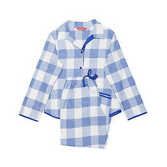 Minijammies 5316 meisje Elisa Blue Check katoenen pyjama pyjama's Set