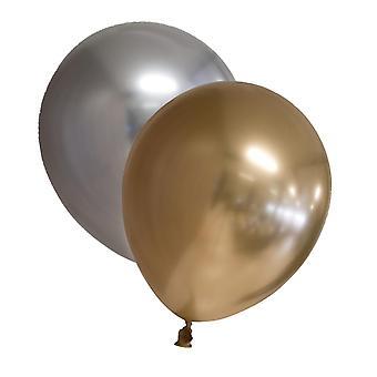 """Mix Ballonger 20-pack Chrome - Guld och Silver 30 cm (12"""")"""