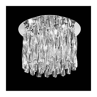 Glacial Chrome Ceiling Light 8 Bulbs