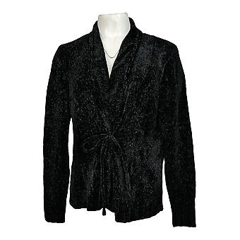 Anybody Women's Sweater Cardigan Style w/ Front Tie Black A372139