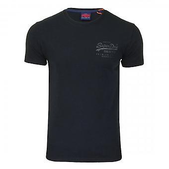 Superdry VL Premium Waren Tonal Injektion T-Shirt Eclipse Navy 98T