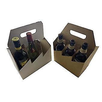 220mm x 150mm x 320mm | 6 Beer Ale Cider Bottle Box | 25 Pack