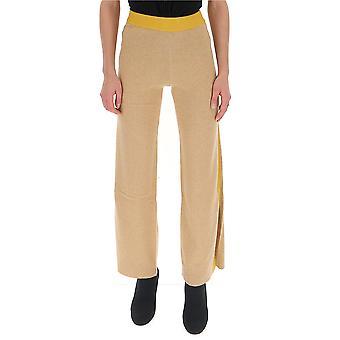 Semi-couture Y9ac05v330 Women's Beige Wool Pants