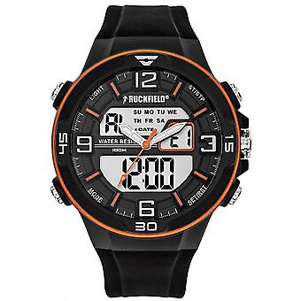 Ruckfield Watch 685060 - Ana-digital Silicone Black Men Multifunction