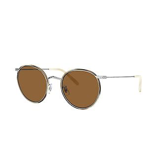 Oliver Peoples Casson OV1269ST 503653 Silver-Beige Horn/True Brown Sunglasses